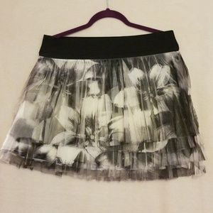 Maurice's layered floral mini skirt